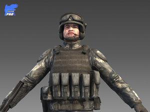universal soldier 3d model