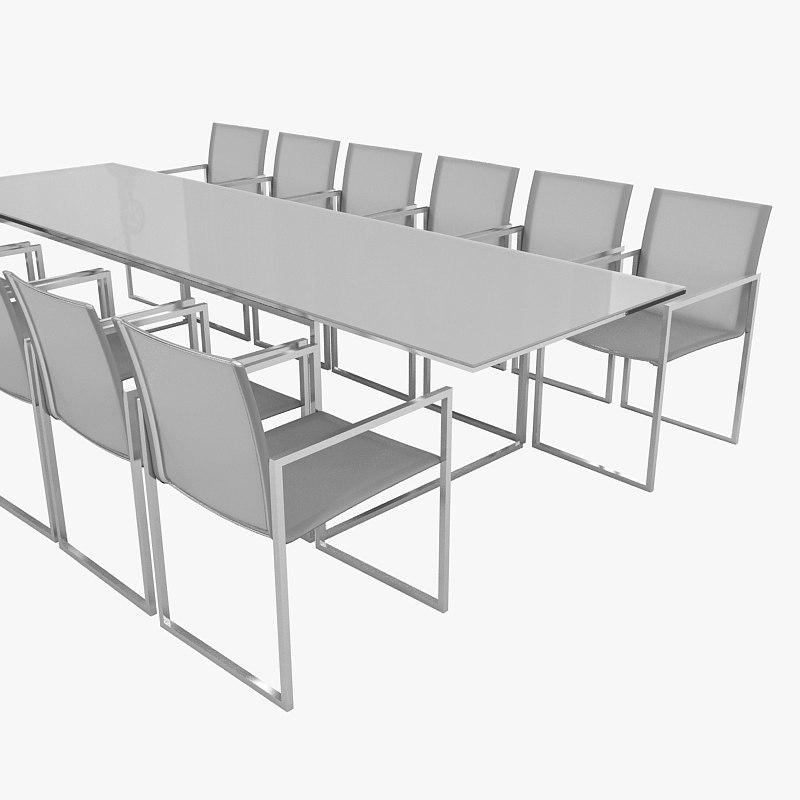 3ds max furn chair table otdoor