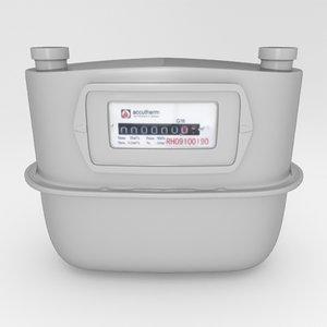 gasmeter yafaray 3d 3ds