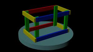 escher cube 3d model