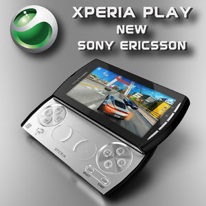 3d model sony ericsson xperia play