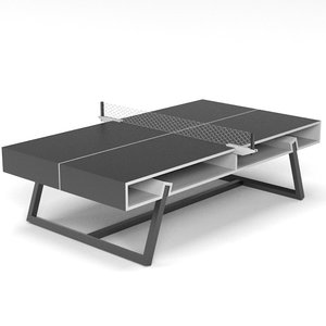 hollow ping pong table 3d obj