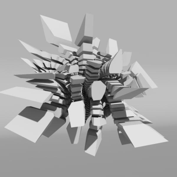 voronoi tesselation abstract 3d c4d