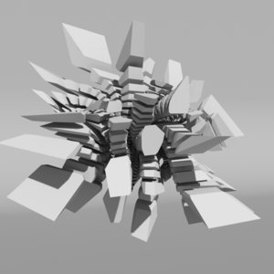 voronoi tesselation abstract 3d c4d