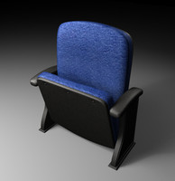 3d theater chair model