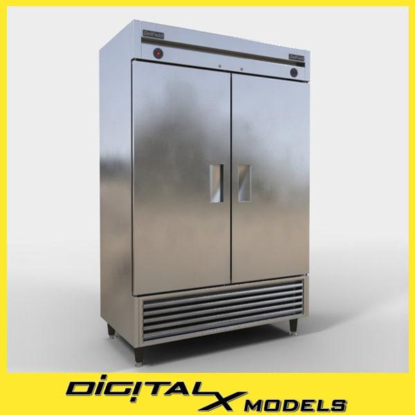 3d commercial refrigerator 2