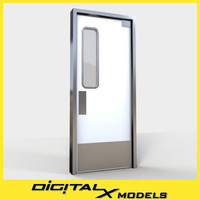 commercial kitchen door 1 3d x