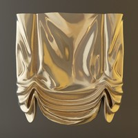 3d curtain window roman