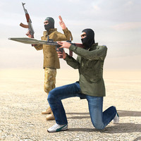 3d rebel ak47 arab