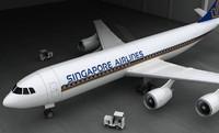 3d model of aeroplane aero plane
