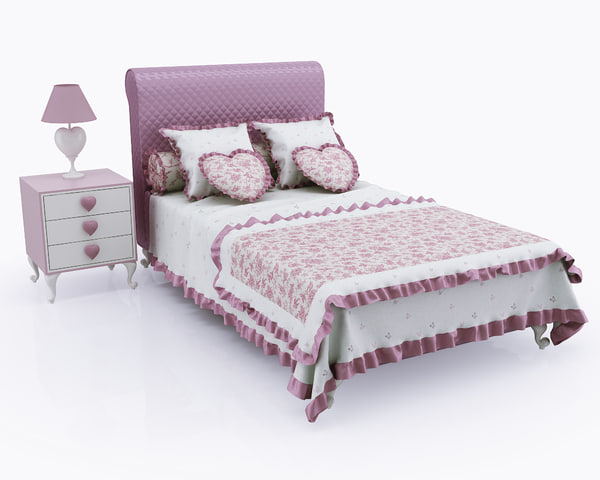 children bed tumb halley 3d max