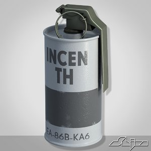 3d model grenade m18 gray explosive