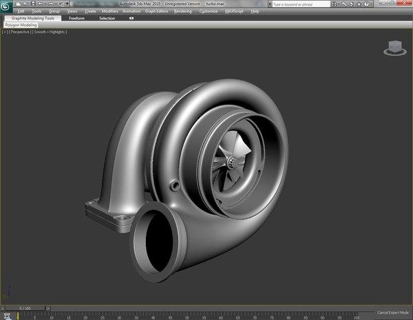 3d model turbo polys