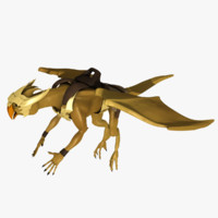3d model dragon creature