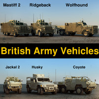 3d model british army vehicles