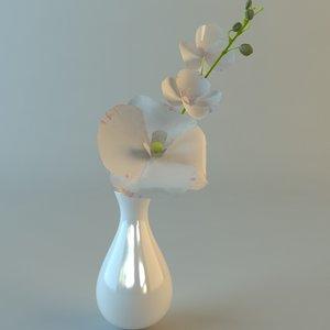 white bouquet details 3ds