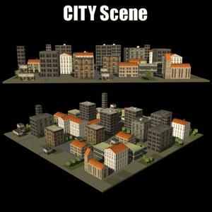 3d model city scene
