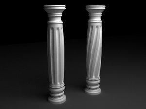 3d antique column n4 model