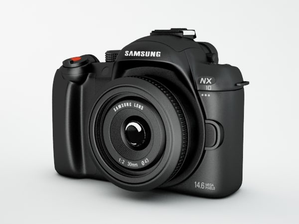 3d model samsung camera nx10