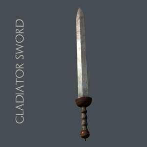 low-poly gladiator sword 3ds