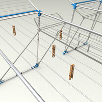 dryer rack 3d model