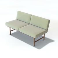 3d model sofa armless
