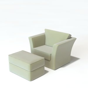3d model lounge ottoman