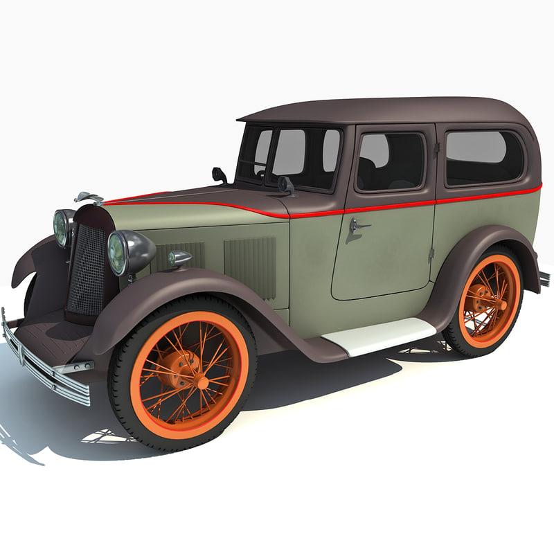 3d austin seven swallow 1931 model