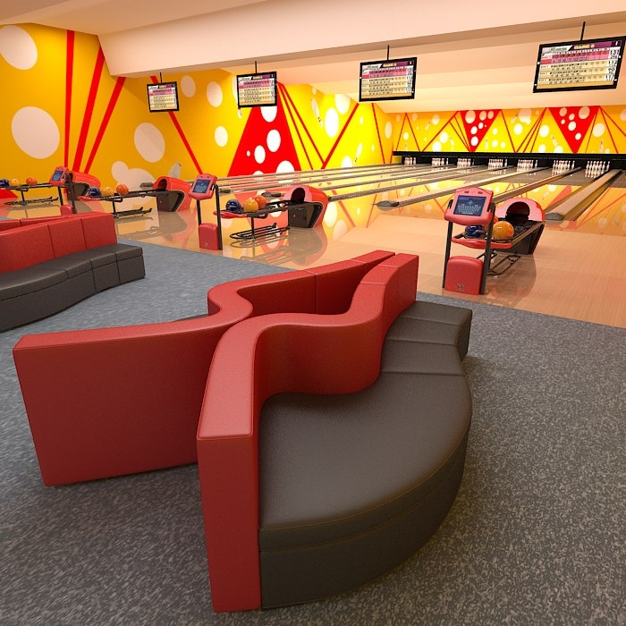 bowling club equipment 3d model