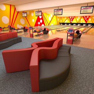 bowling club equipment 3d model