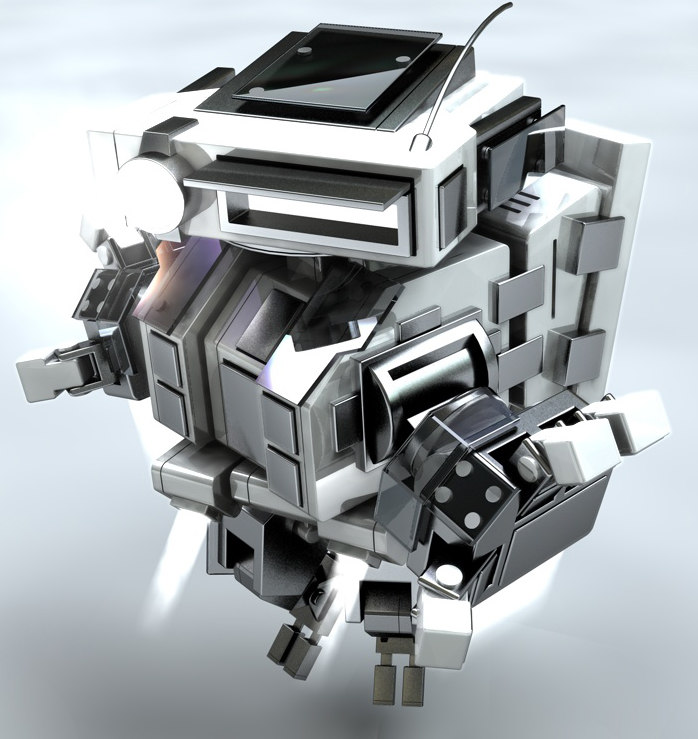 robot hands thrusters 3d c4d