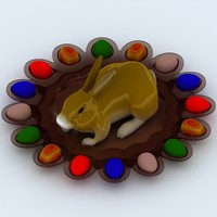 3d easter rabbit