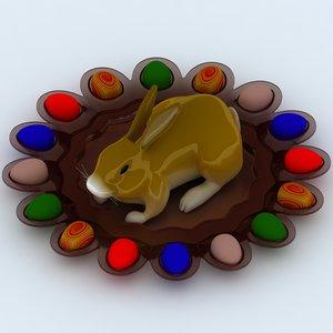 3d easter rabbit