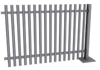 3ds max modular palisade fencing