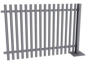 3ds max modular palisade fencing