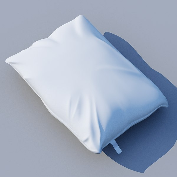 3d model pillow modeled