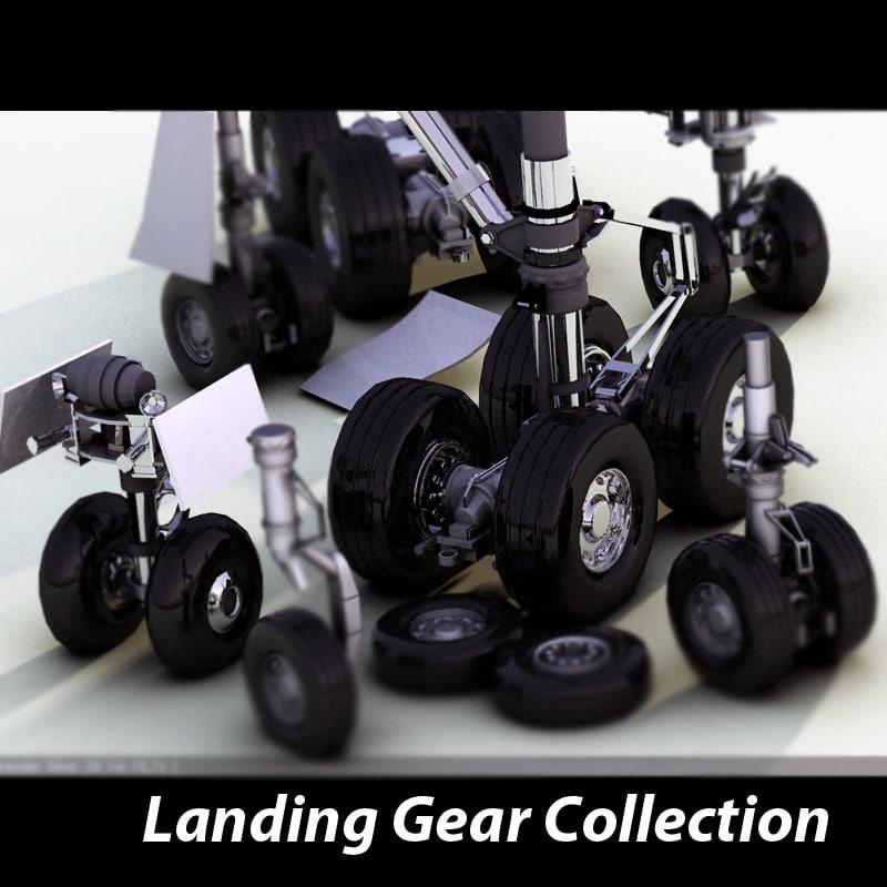 3d model landing gears
