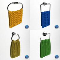 3d model modelled towels