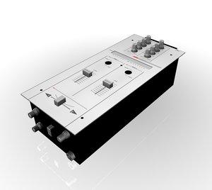 3d dj mixer model