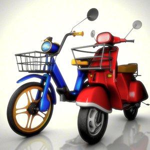 vespa scooter rig ciao 3d ma