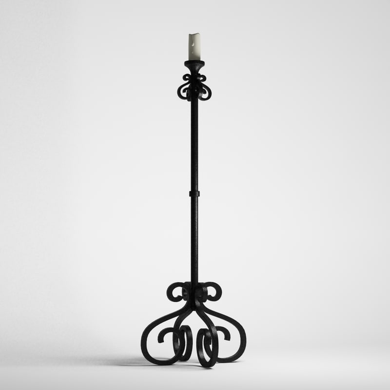 3ds forged candlestick candle