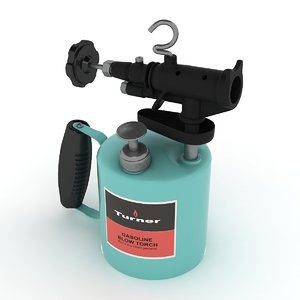 3d vintage gasoline blowtorch 02 model