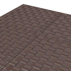 wicker rug leather obj