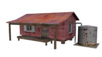 3d shack house model