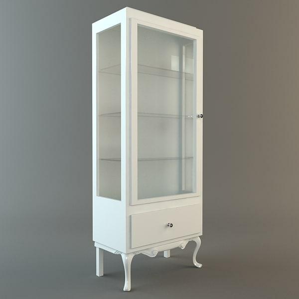 3d model display case cabinet vitrine
