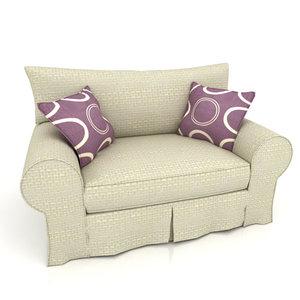 3d couch - balina sofa model