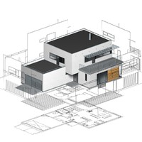 functionalist building elevations 3d model