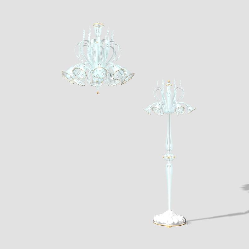 lerie chandelier floar 3d model