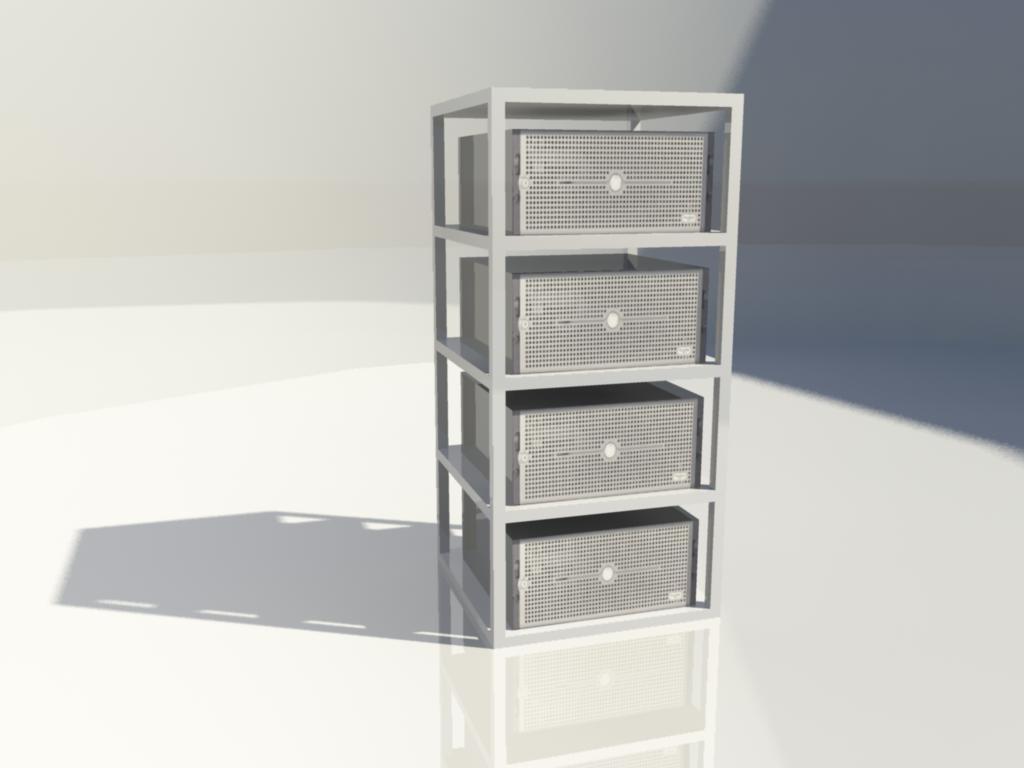 server block - 3d model