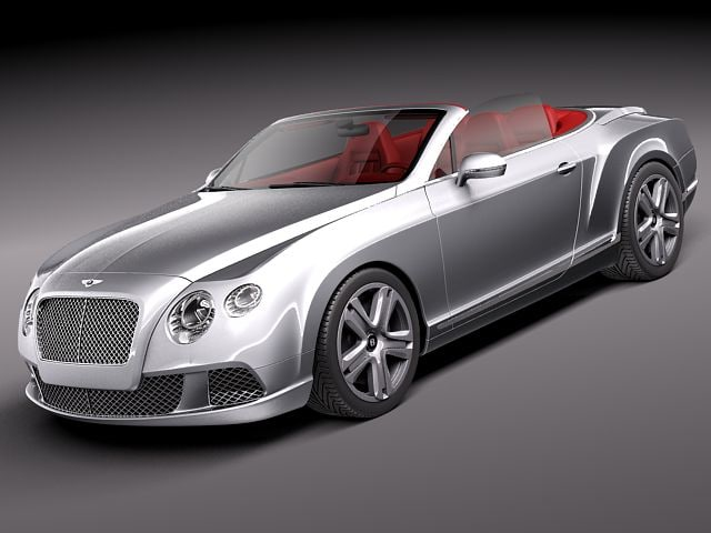 3d bentley continental gt gtc model